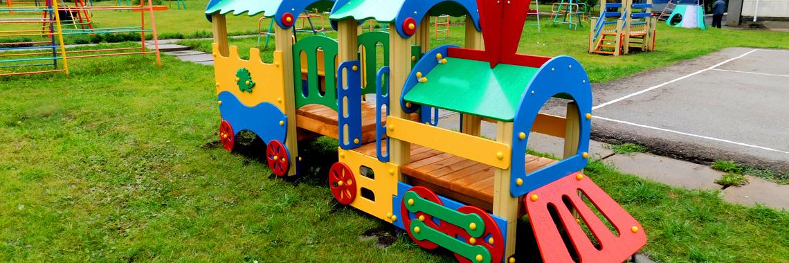 Игровые площадки из дерева