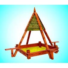 Песочница пирамида