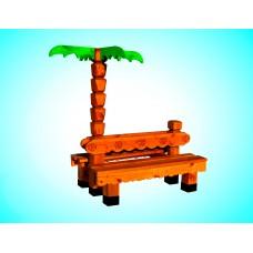 Скамья из дерева №3