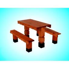Скамья из дерева №6