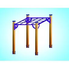 Спортивный комплекс «Паук» на четырех столбах